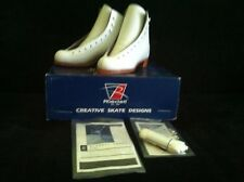 New Riedell #55N Silver Star Ice Figure Skating Boot Girls Youth Size 2