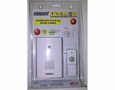 Omega 17301 Mains Powered Plug in Wireless Cordless Home Door Chime 75m Range