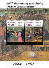 Guyana-2014-Art-Painting-175TH BIRTH ANNIVERSARY-Toulouse Lautrec