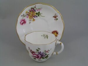 ROYAL CROWN DERBY DERBY POSIES TEA CUP AND SAUCER