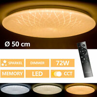 Lámpara LED De Techo Salón Dormitorio Cielo Estrellado Control Remoto 72W Cct