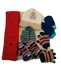 Baby Boy Scarf, Hat And Mittens Bundle 1-2 Years