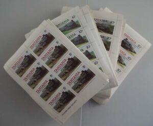 1985 Tansania; 1000 Serien Züge Silberaufdruck, **/MNH, MiNr 297/300b, ME 40000,