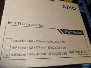 2X Hiti 6x8 inch 500 print media kit Ribbon & Paper