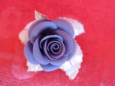 Beautiful, old Porcelain Rose ____ Blue