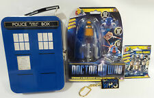 DOCTOR WHO : TARDIS LUNCH BOX, MICRO FIGURE, KEY RING, DALEK TOY BUNDLE (TK)