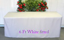 Trestle table cover white to fit 6 foot table folding weding market display U