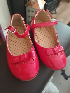 Toddler Girls Red Patent Shoes Size 7