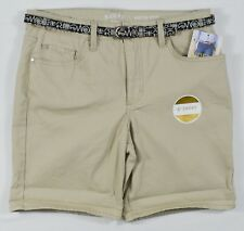 """Riders By Lee 7391 NEW Women Pure Cashmere Colored 6"""" Short Midrise Denim Shorts"""