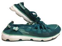 Salomon S-Fly Slip-Bay Blue Walking Shoes SIze 8.5 Soft Flexible Turquoise