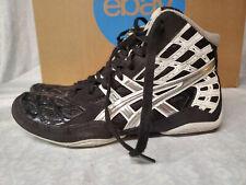 Asics Men's size 9 Split Second Black Silver Wrestling Shoes J203J Black Silver