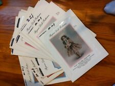 Lot Of 18 Byron Doll Clothing Patterns