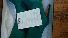 Duo (Ted & Muffy) Plataforma De Ante Verde la Rodilla Botas Altas Rrp £ 230 Nuevo Y En Caja Talla 5 Slim