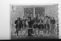 (2) B&W Press Photo Negative Pale Dry Schaefer Beer Workers Group Portrait T4114