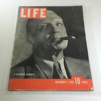 Vintage Life Magazine: November 7 1938 - A California Candidate