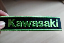 KAWASAKI Keychain Embroidered Fabric Strap Keyring Bike Racing New Free Shipping