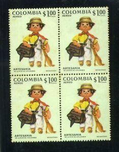 ''PAISA''  COLUMBIAN ARTISANTS,-  bklt  of  4  1972