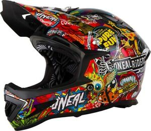 HP7 Dh Mountain Bike MTB Helmet BMX 2020 Oneal Backflip Rl 2 Solid White
