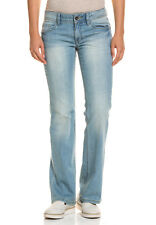 Esprit Damen Bootcut Jeans Regular Fit Straight Leg Normale Leibhöhe Baumwollmix
