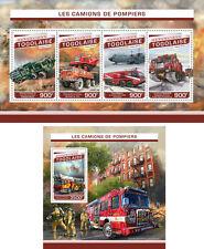 Fire Engines Special Transport Firefighters Togo MNH stamp set