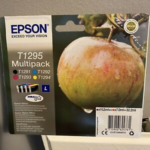 Genuine EPSON T1291 T1292 T1293 T1294 (T1295) Apple Multipack Ink Cartridges