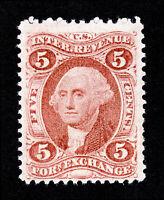 U.S. REVENUE STAMP 1ST ISSUE SCOTT #R26C FOREIGN EXCHANGE 5¢ MNG 1862-1871