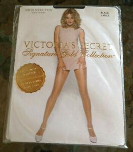 NEW Victoria Secret Signature Gold Sheer Seduction MINK LARGE Pantyhose NO PKG
