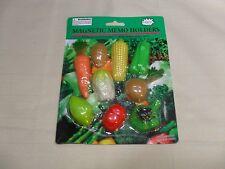 Set of 9 Magnetic Memo Holders/ Refrigerator Magnets Vegetables Shapes