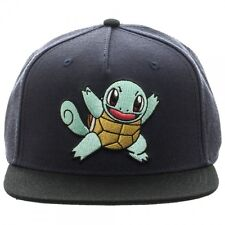 OFFICIAL NINTENDO'S POKEMON SQUIRTLE BLACK COLOUR BLOCK SNAPBACK CAP (NEW)