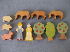 Figuren Tiere Bäume Holz Holzspielzeug