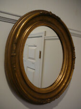 S20 Antique Gold Gilt Oval Frame Mirror Acorn Decoration