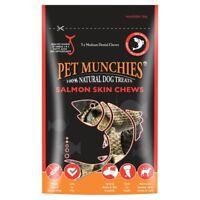 Pet Munchies Natural SALMON TREATS Dog Puppy Fish Fillets Skin Chews Cubes Bites