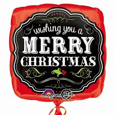 WISHING YOU A MERRY CHRISTMAS CHALKBOARD FOIL BALLOON XMAS PARTY DECORATION 43CM