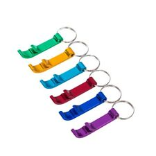 5Pcs Hot Bottle Opener Key Ring Chain Keyring Keychain Metal Beer Bar  Pop