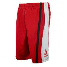 Reebok Men's Athletic Gym Basketball Training  Shorts Red Light Gray L