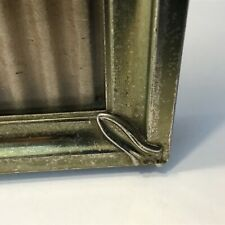 VTG Art Deco Gold Metal Embossed Photo Picture Frame 8 x 10 Ornate Corners