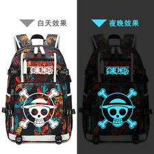 One Piece Luminous Backpack Students USB Charging Schoolbag Travel Shoulder Bag
