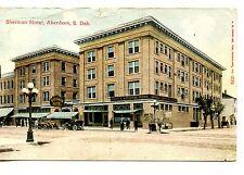 Sherman Hotel-Dakota National Bank-Aberdeen-South Dakota-1911 Vintage Postcard