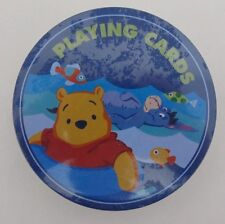 Winnie The Pooh Disney Playing Cards Unopened Tin Vintage Package Round