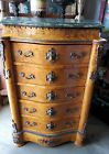 Louis XV Furniture. Marble top 5 drawer Louis XV Chest of Drawers. Made in Egypt