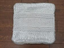 POTTERY BARN TEEN KNITTED METALLIC PILLOW COVER NEW