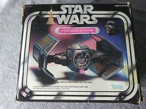 Star Wars Vintage Darth Vader Tie Fighter BOX, instructions, catalog LIGHT WORKS
