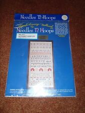 Alphabet Sampler 213 Cross Stitch Kit by Needles 'N Hoops 9.5 x 19 Personalized