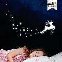 Leuchtaufkleber Kinderzimmer Hirsch Reh Sterne leuchten im Dunklen Leuchtsterne