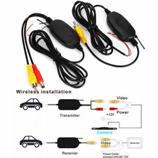 Wireless Video Transmitter Receiver Kit For Car Rear View Camera Reverse Backup