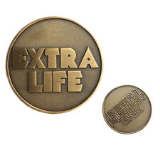 Ready Player One Extra Life Coin Quarter Cosplay Prop  Badge Gift Collection