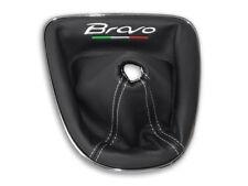 PER FIAT BRAVO 2 II 2007-2017 CUFFIA DEL CAMBIO PELLE NERA RICAMO BIANCO Italia