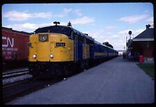 Original Rail Slide - VIA Rail Canada 6793+ Kitchener ON 9-3-1987
