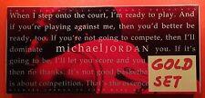 Michael Jordan 1994 Upper Deck Rare Air Tribute 90-card Set Gold Edition