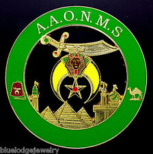 Shriners Green A.A.O.N.M.S Car Emblem
